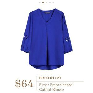 Elmar Embroidered Cutout Blouse